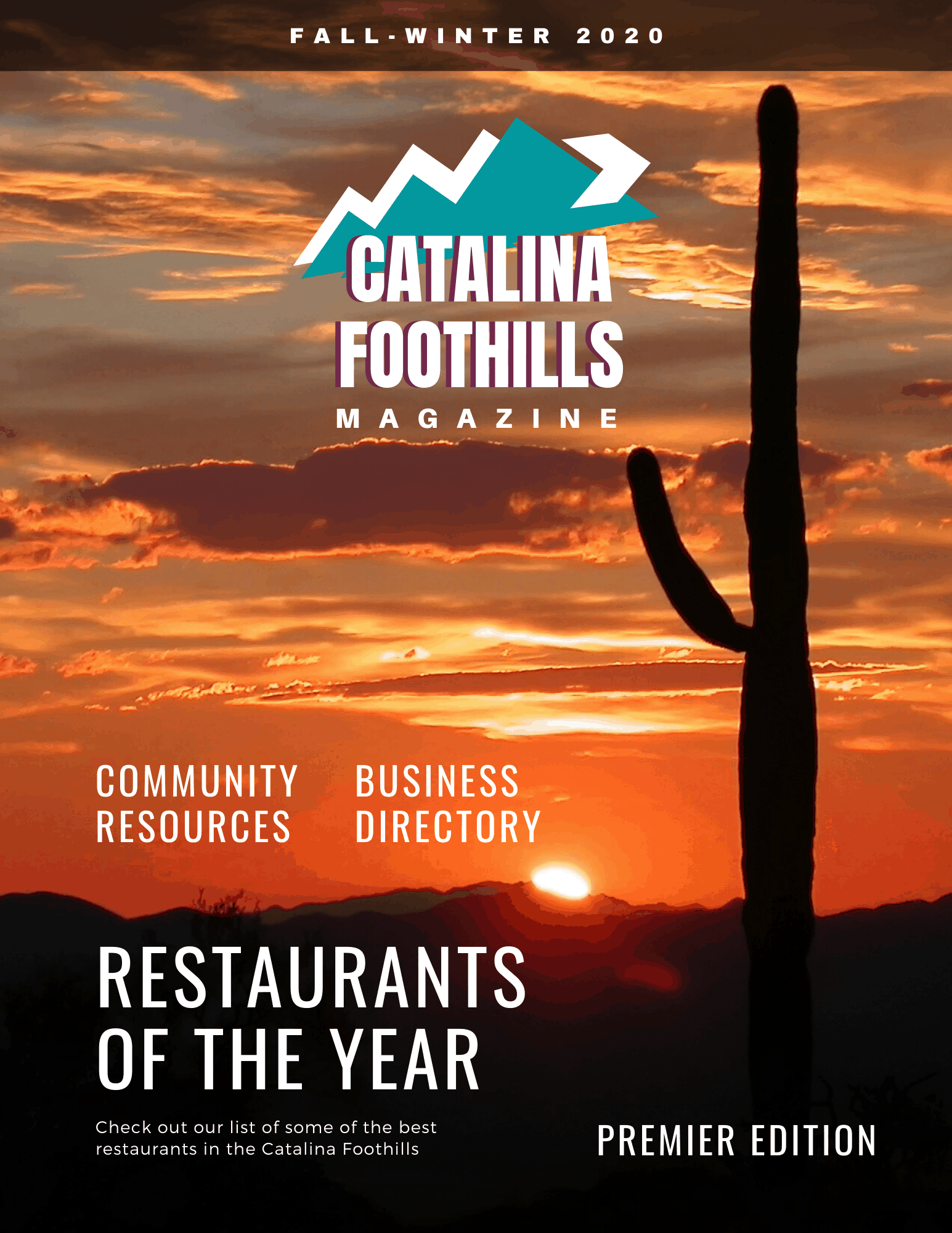 Catalina Foothills Magazine cover